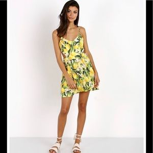 Show me your mumu print cut out dress M